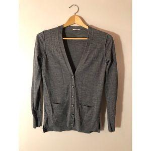Gray Merino Wool Cardigan by Halogen